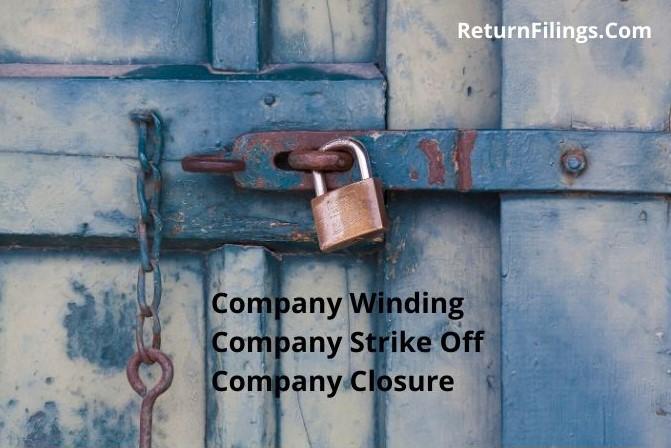 company winding application, company wind up, closure of company, company strike off, company shut down