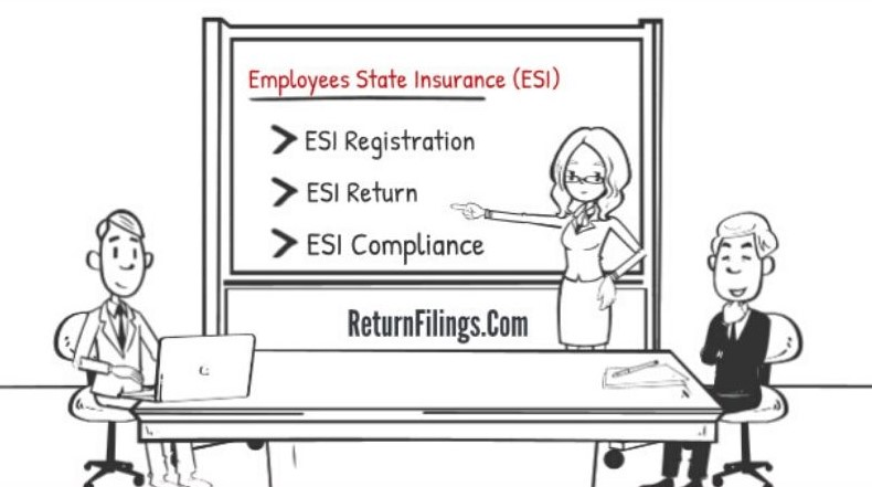 employees state insurance registration, esi return filing, uan online service, esi member online addition and deletion, esi notices reply