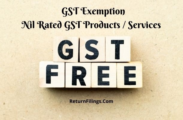 gst free, gst exemptions, gst nil rated, gst zero rated, non gst supplies, nil rated gst product and services
