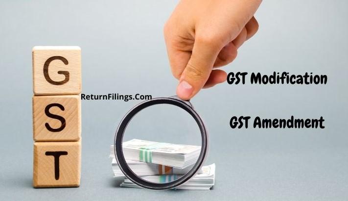 GST Modification application, GST amendment application, GST amendment or modification in core fields or non core fields