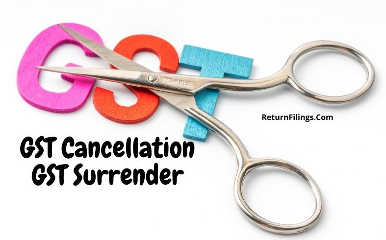 GST Surrender, GST Cancellation, GST closure, suo-moto gst cancelled by gst officer, gst revival after cancellation